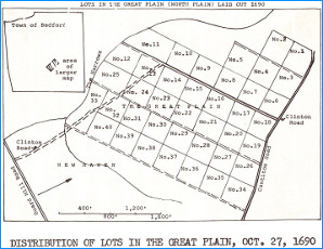 Lots in the Great Plain (North Plain) Laid Out 1690