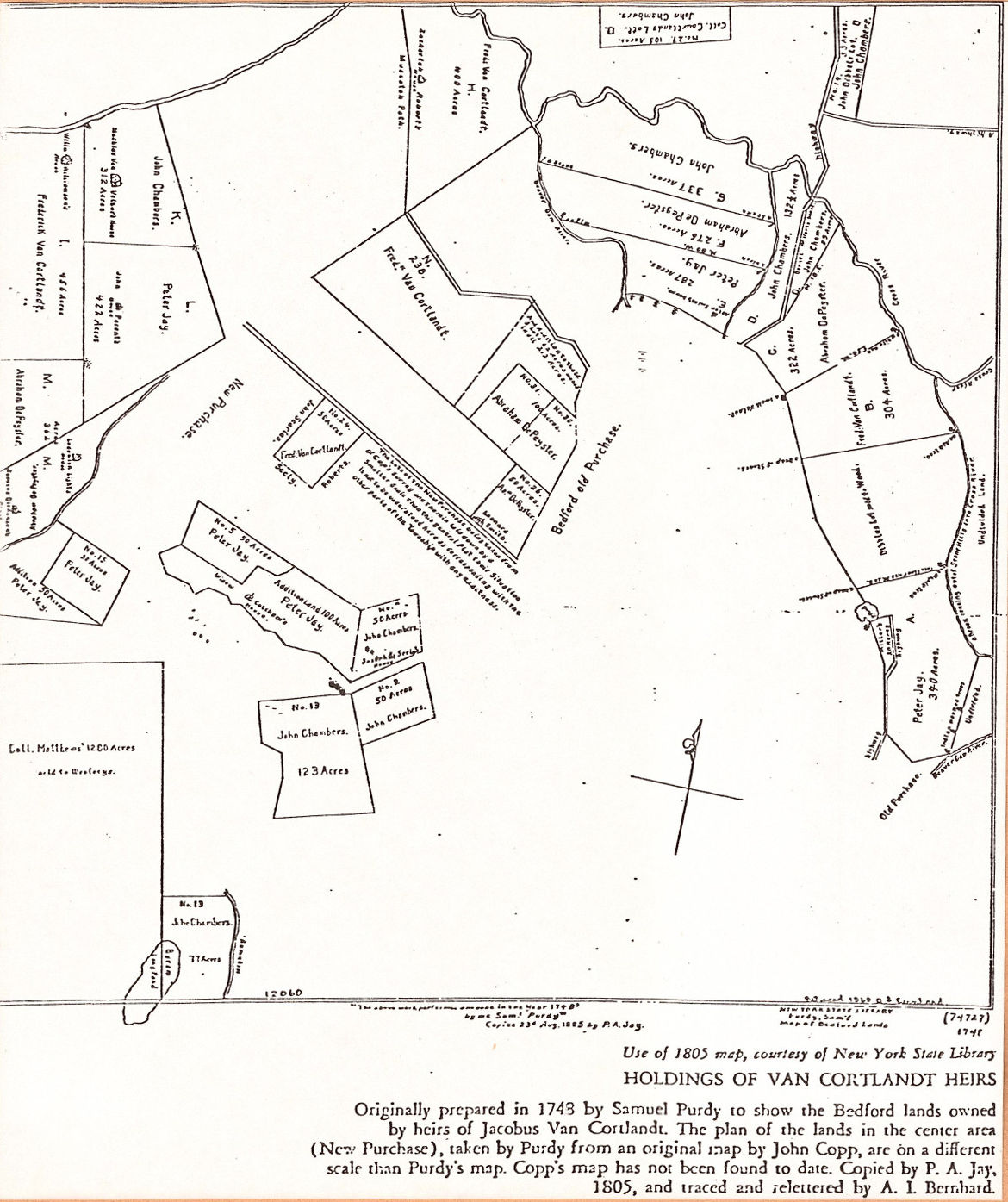 Mount Kisco Public Library 914 666 8041 History 2nd Judicial Circuit Historical Society Maps 262kb Originally Prepared In 1743 By Samuel Purdy To Show The Bedford Lands Owned Heirs Of Jacobus Van Cortlandt From Katonah A
